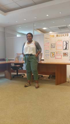 2017 SYPIP Intern Katie Davenport presents her RFP at at the Youth Philanthropy Summit (Photo by Amma Ababio)