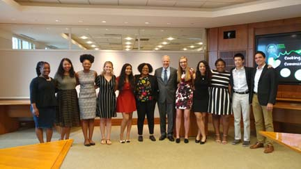 2017 SYPIP Interns with President Grant Oliphant at their final presentation to The Heinz Endowments staff (Photo by Amma Ababio)