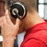 Sci-Tech High School - Tyler in a headset, close up-7277